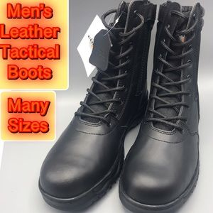 Brand New Genuine Leather Men's Tactical Boot